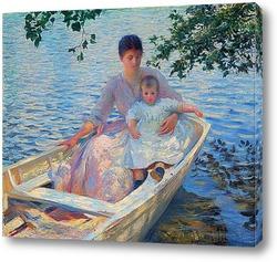 Постер Майка и дете в една лодка