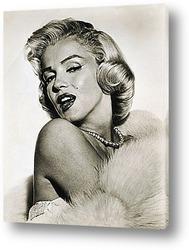 Постер Мерелин Монро,публичное фото.
