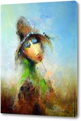 Постер Пастушок со стрекозой на шляпе