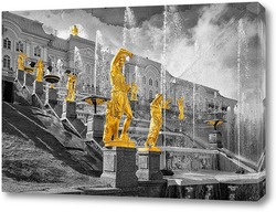 Постер статуи в Петергофе