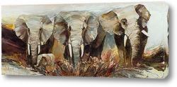 Картина Три с половиной слона