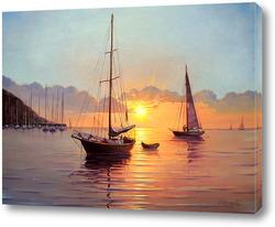 Картина Вечер на море