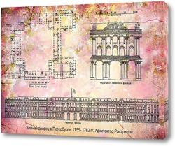 Постер Зимний дворец. Растрелли
