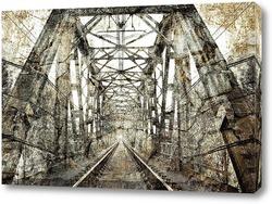 Постер старый Ж/Д мост