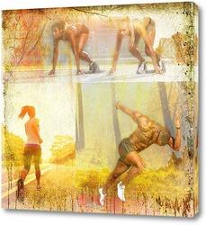 Постер Спортивный бег