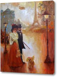 Картина Прогулка. Парижские зарисовки.