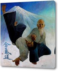 Картина Поединок. Старый мастер айкидо