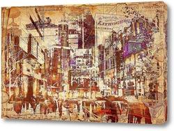 Постер рисунок мегаполиса