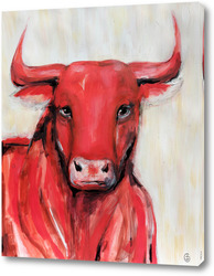 Картина Красный бык