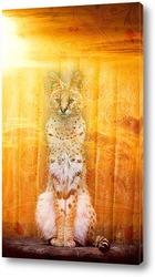 Постер Солнечный леопард