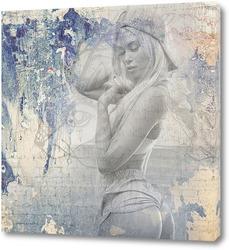 Постер Сексуальная блондинка