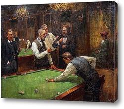 Картина Играющие в бильярд