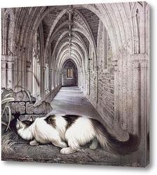 Постер Кошка в замке