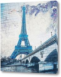 Постер Эйфелева башня. Масляная краска