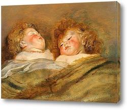 Постер Две спи бебето