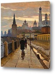 Постер Вид на Кремль со стороны набережной Москвы-реки