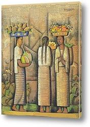 Постер Продавщицы с фруктами