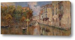Картина Вид на канал в Венеции