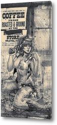 Постер Девушка в стиле вестерн