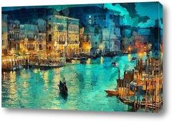 Постер Венеция. вечер
