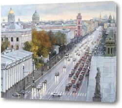 Картина Невский после дождя