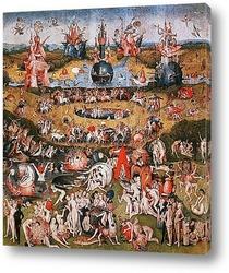 Картина Градината на земните удоволствия триптих фрагмент