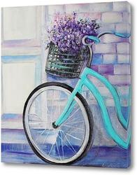 Постер Картина Велосипед в Провансе
