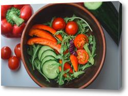 Постер Салат из свежих овощей