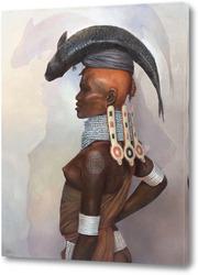 Постер Женщина с рыбой