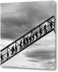 Постер Лестница в небо (чб)