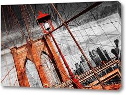 Постер Красный мост