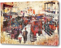 Постер Город. Рисунок