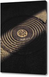 Постер Текстурная крышка в асфальте