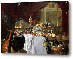 Картина Натюрморт с десертом