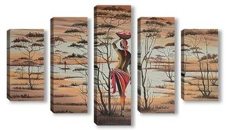 Модульная картина Africa. Donna