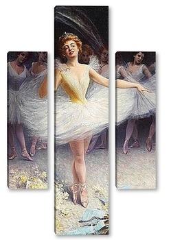 Модульная картина След изпълнението на балерина
