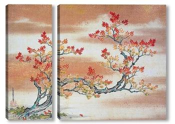 Модульная картина Осеннее дерево
