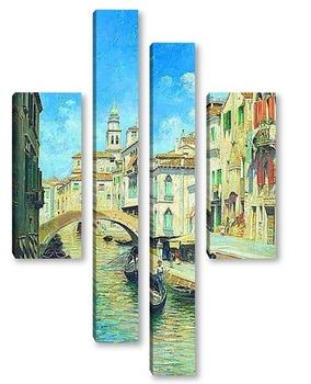 Модульная картина венециански гондолиер