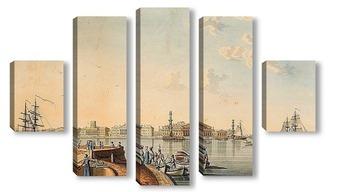 """Модульная картина """" Изглед от града островите от Palace Embankment """""""