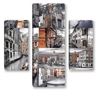 Модульная картина Монохромная Венеция