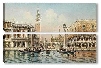 Модульная картина венециански сцена