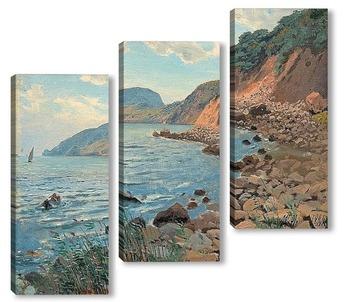 Модульная картина Летен пейзаж на брега .