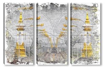 Модульная картина Мост Дружбы в Таиланде