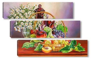 Модульная картина Про фрукты в корзинке