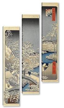 Модульная картина Сто знаменитых видов на Эдо 108