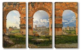 Модульная картина Преглед на Рим през арката