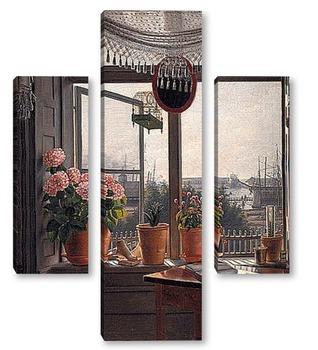 Модульная картина Вид из комнаты художника, ок. 1825