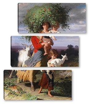 Модульная картина Майката се връща вкъщи с децата