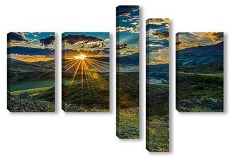 Модульная картина Луч солнца золотого