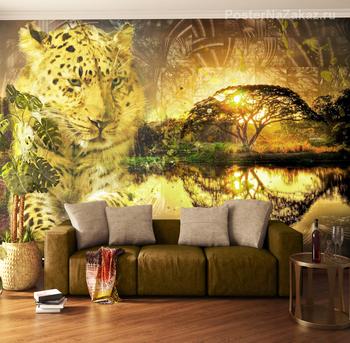 Фотообои Леопард и закат
